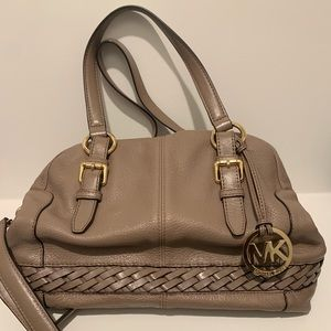 Michael Kors Leather Satchel - Tan